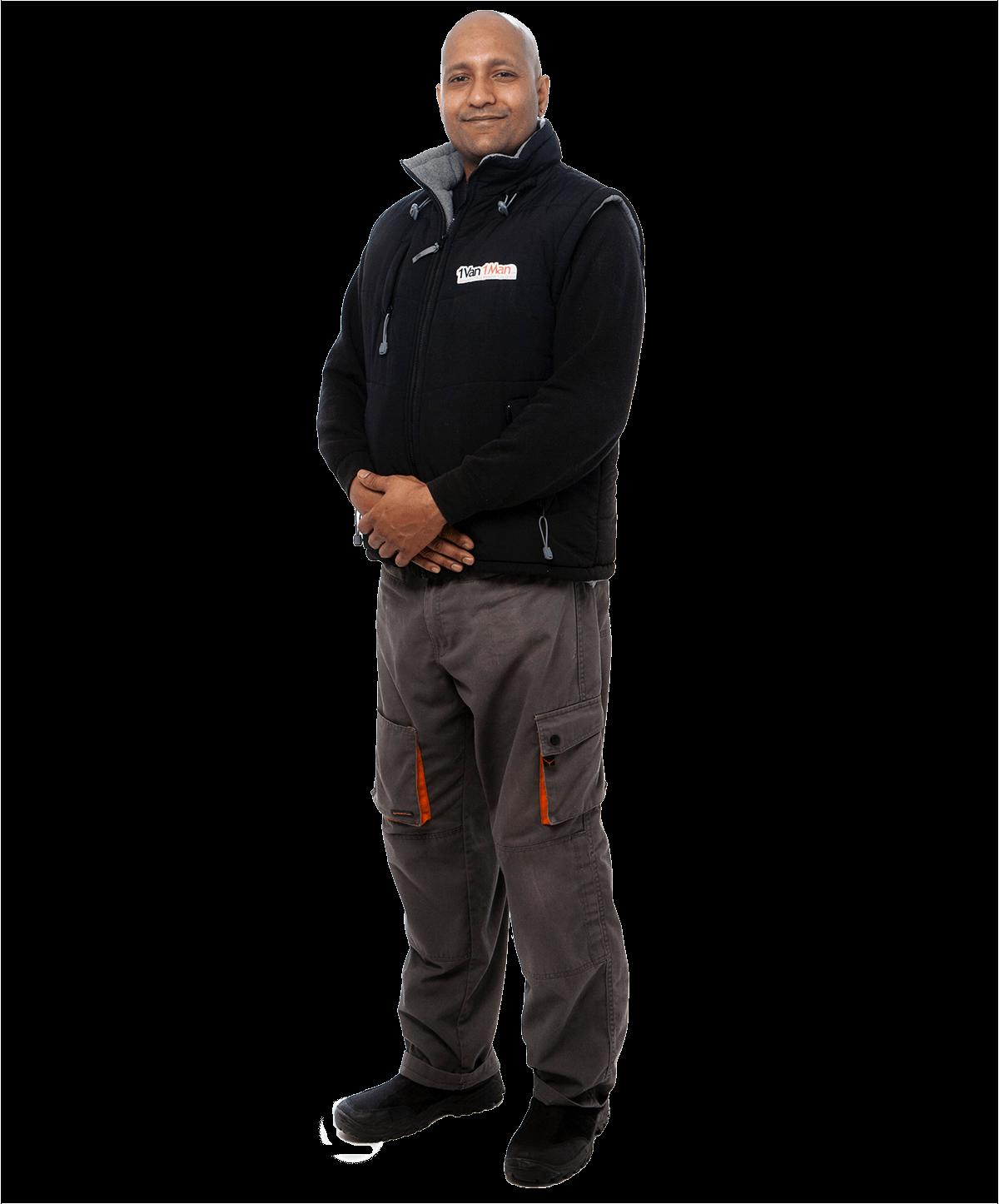 Dale Gosine in 1 Van 1 Man Uniform